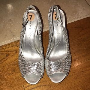 Silver sequenced heels